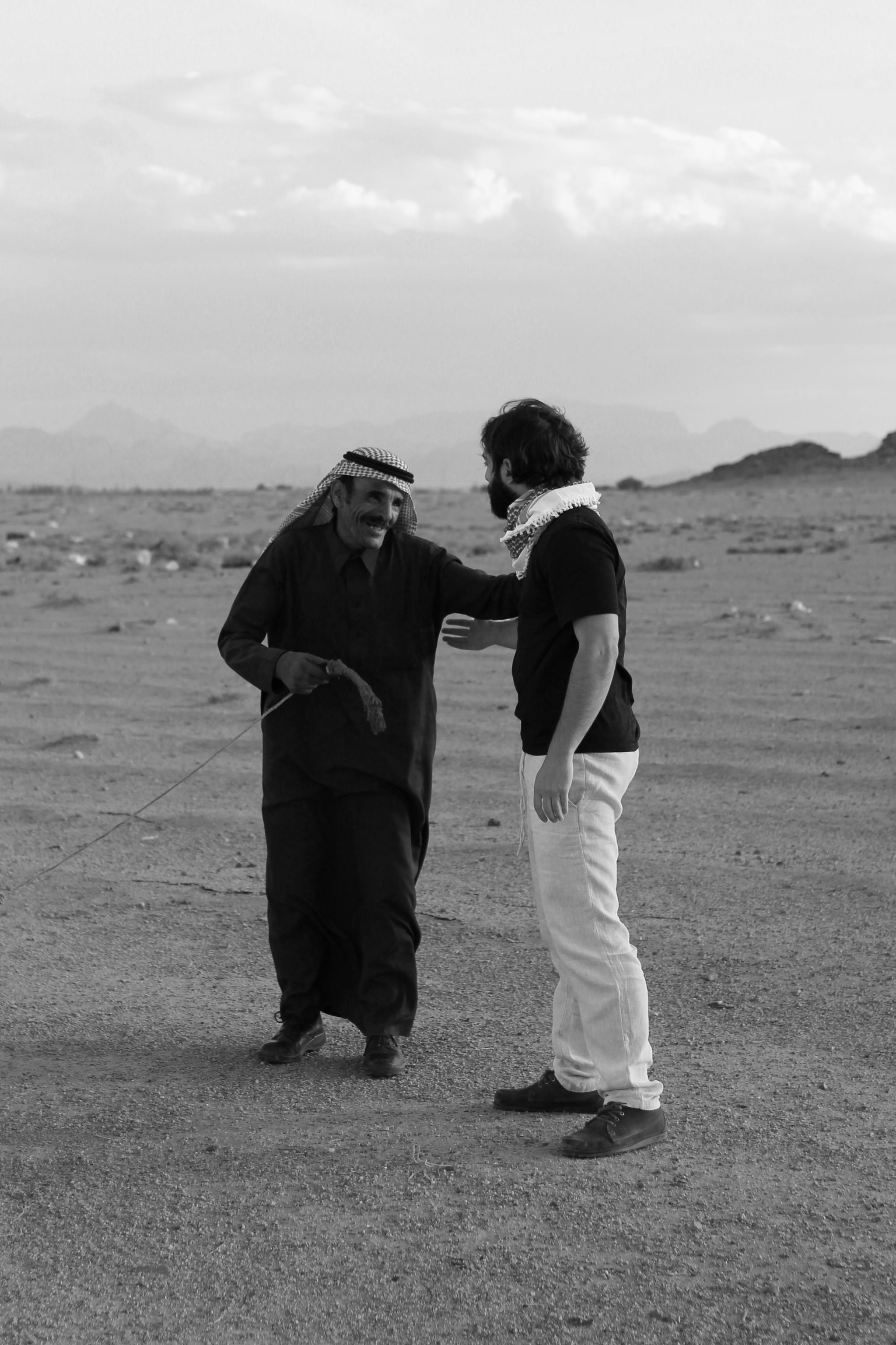 Beduin meeting Wadi Rum