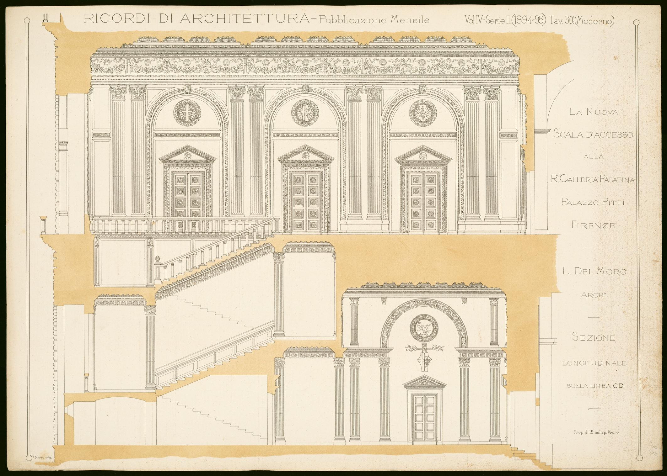 Galleria Paladina Palazzo Pitti Scala del Moro Architecture