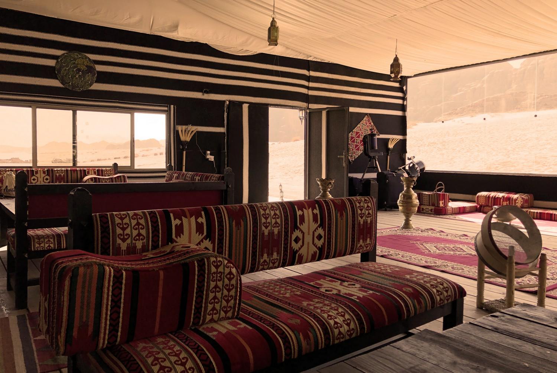 Wadi Rum Luxury Desert Camp in Jordan Mazayen Rum Camp Diner Tent