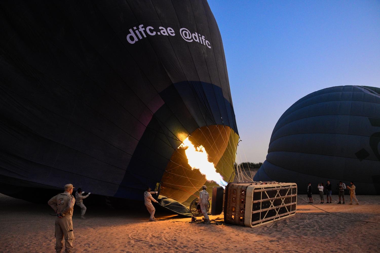 Hot Air Balloon Dubai Desert preparation
