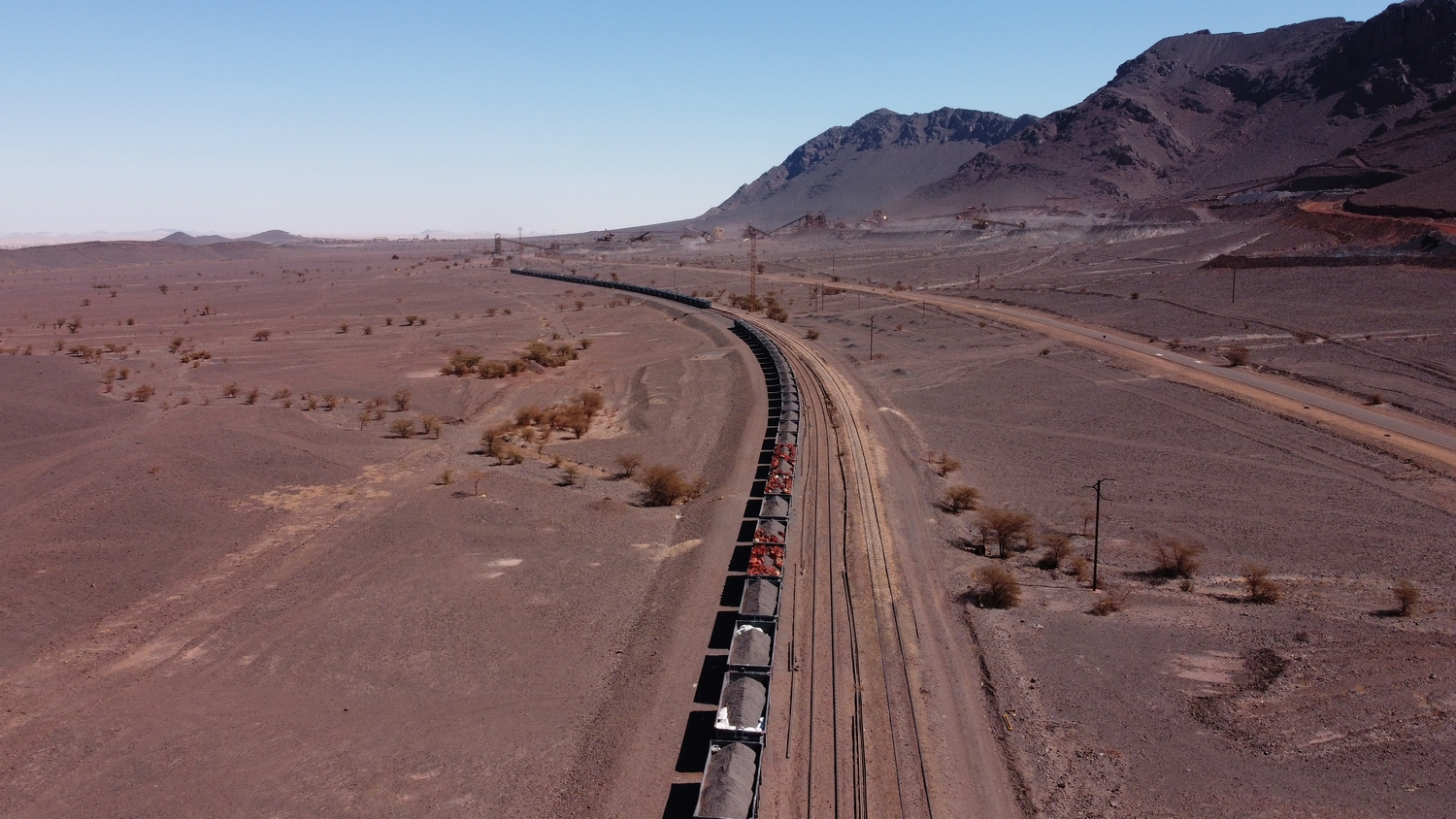 Riding the Ore Iron Train Mauritania Sahara Desert Hematite Mineral