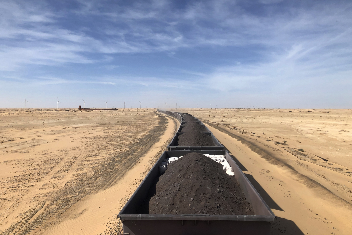 Riding the Ore Iron Train Mauritania Sahara Desert