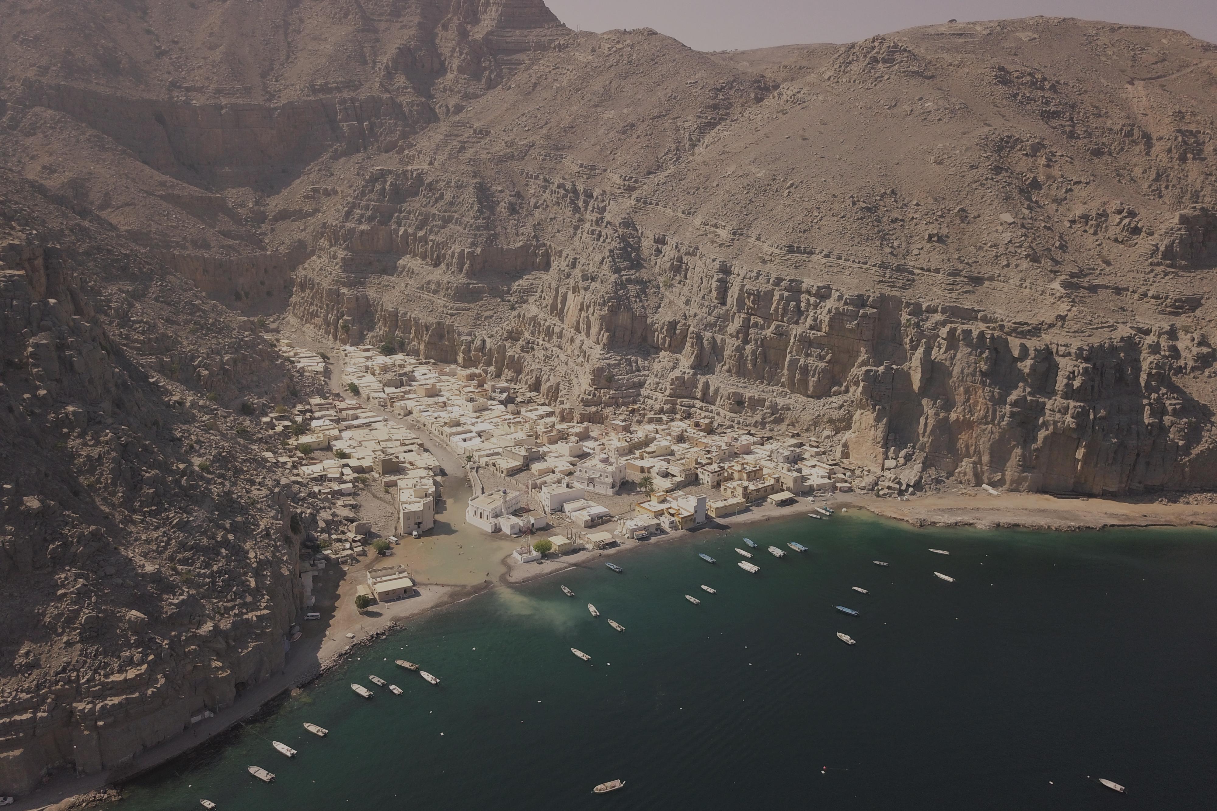 Kumzar Village Oman drone 2019
