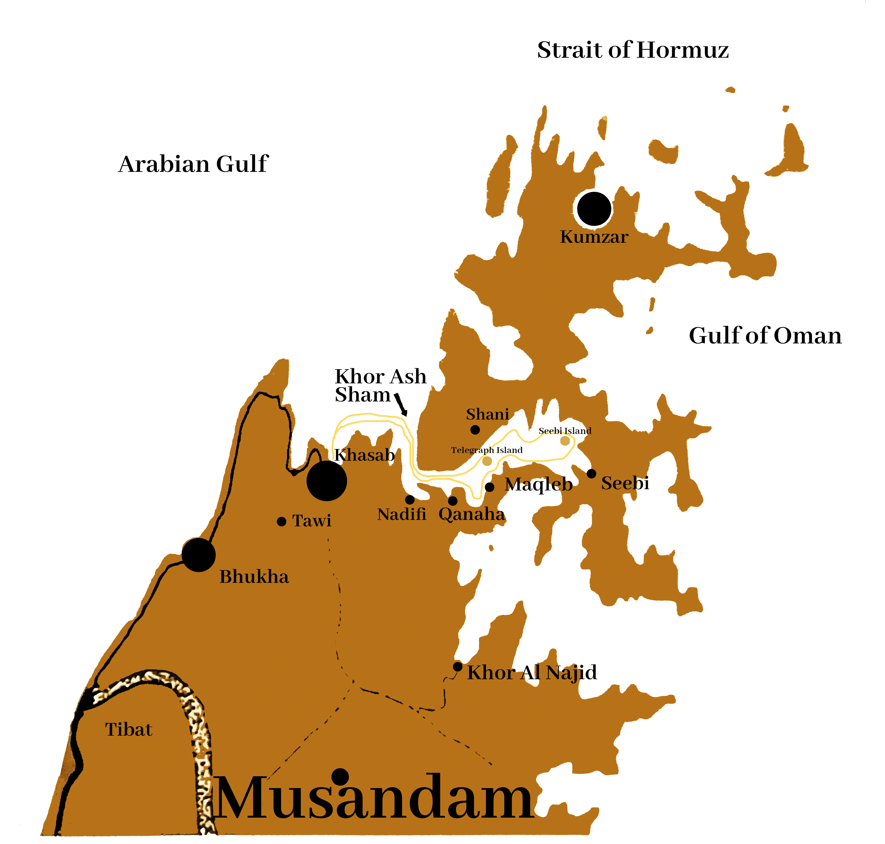 Musandam Fjords Oman MAP